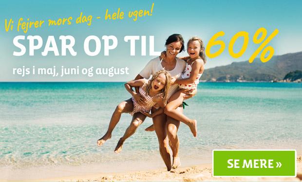 Spar op til 60% på sommerrejser