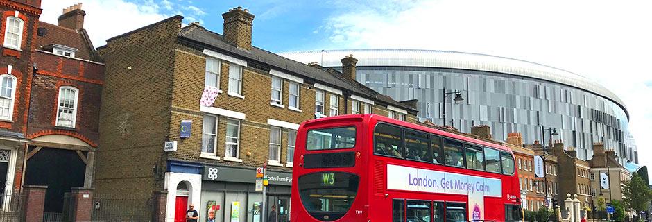 Fodboldrejser til Tottenhams nye Stadion i London