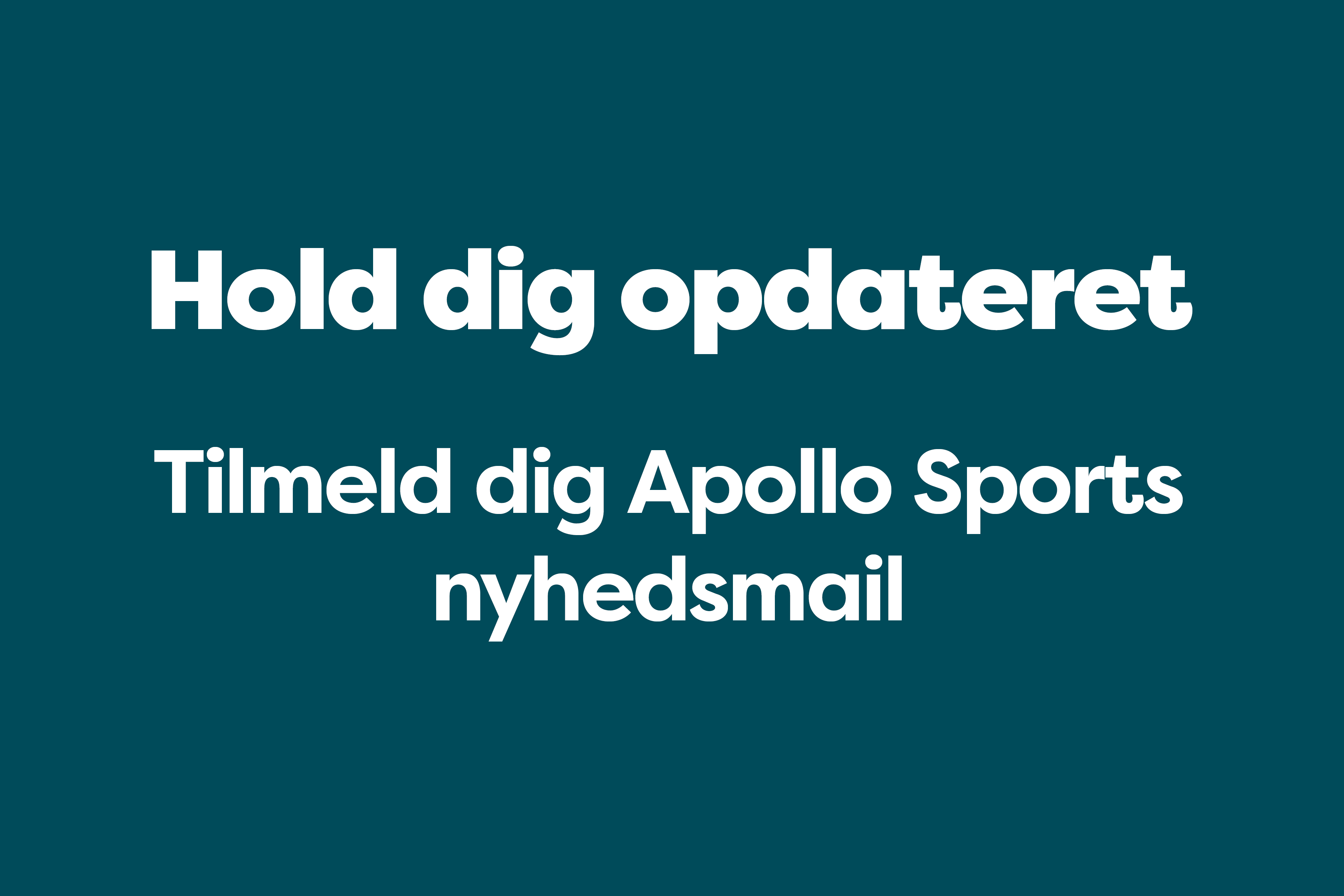 Apollo Sports Nyhedsmail
