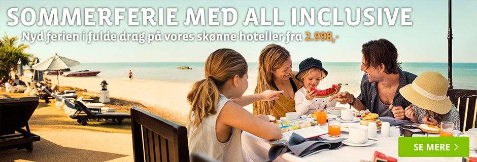 Sommerferie med all inclusive