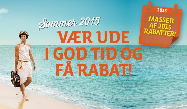 Sommerrejser 2015 - masser af rabatter