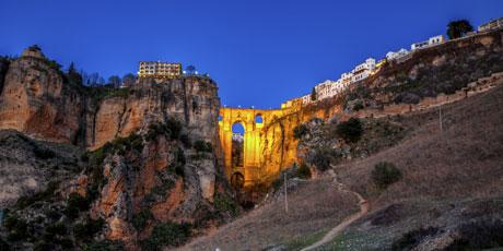 Byen Ronda i Malaga